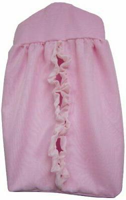 Baby Doll Bedding Layered Crib Diaper Stacker, Pink