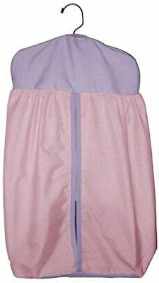 Baby Doll Bedding Solid Two Tone Diaper Stacker, Pink/Lavand
