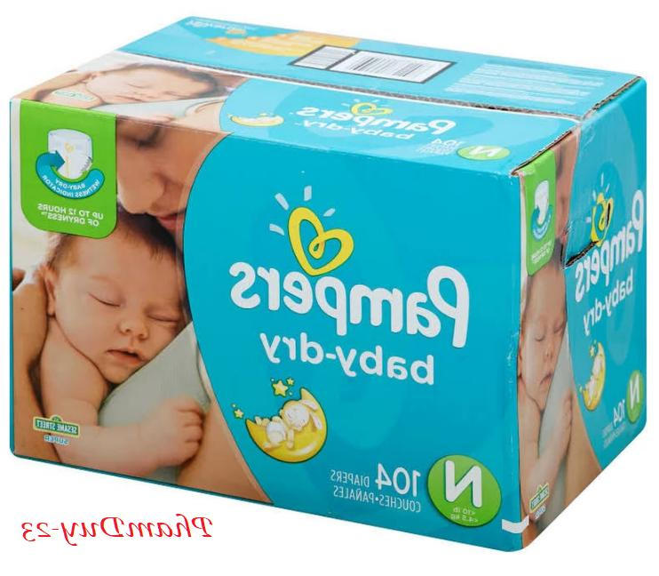 Pampers Baby Size N, 3, NEW NO TAX