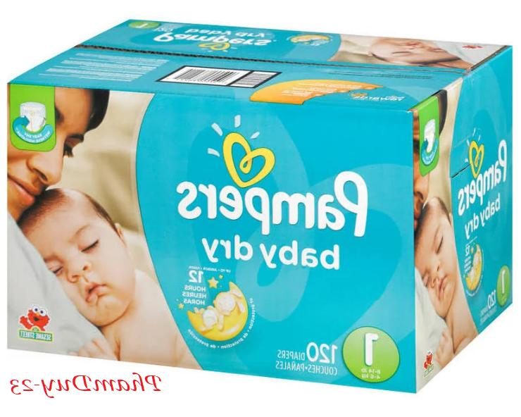 Pampers Baby Dry Size N, 1, 3, 4, 5, NEW SEALED FREE NO
