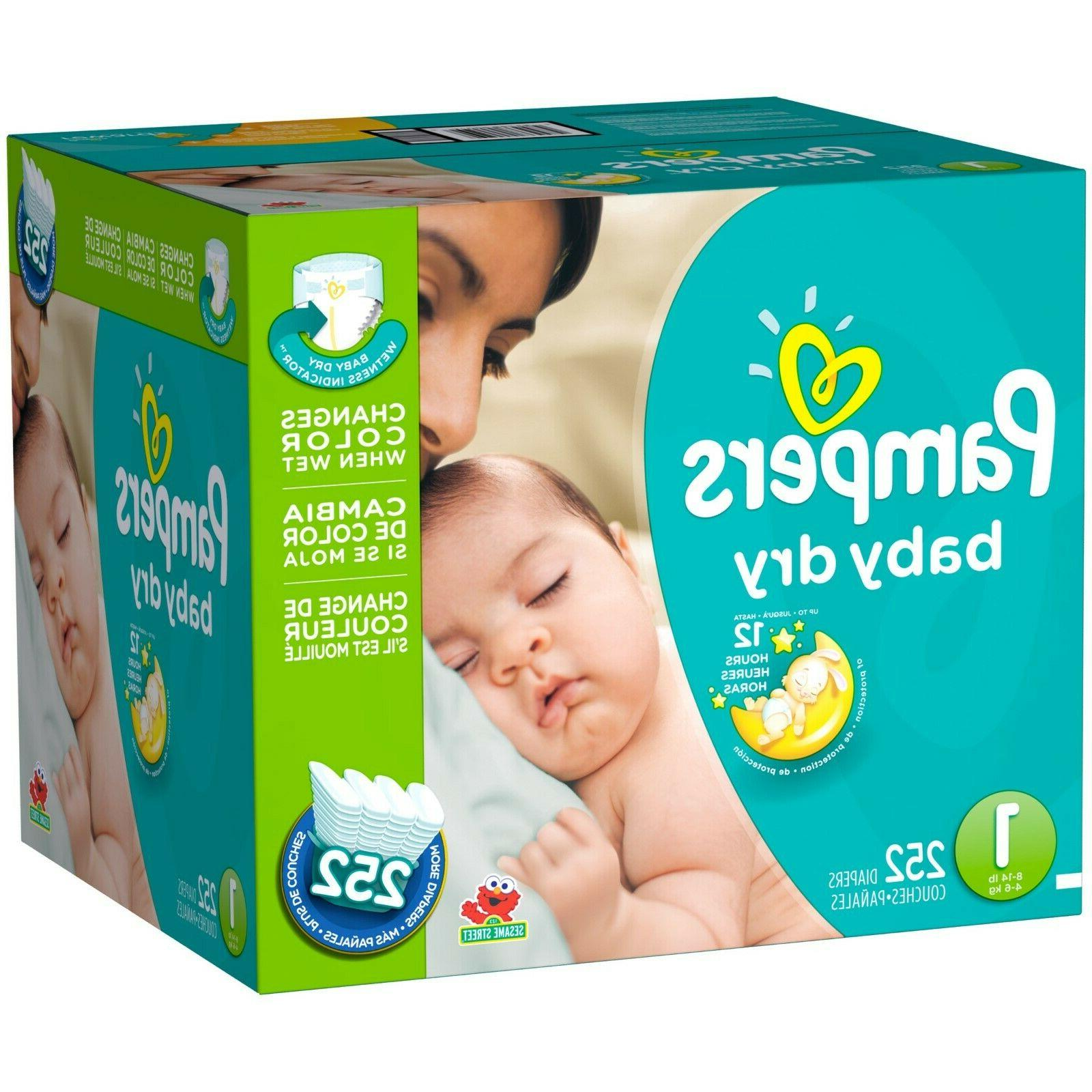 baby dry diapers 252 count size 1