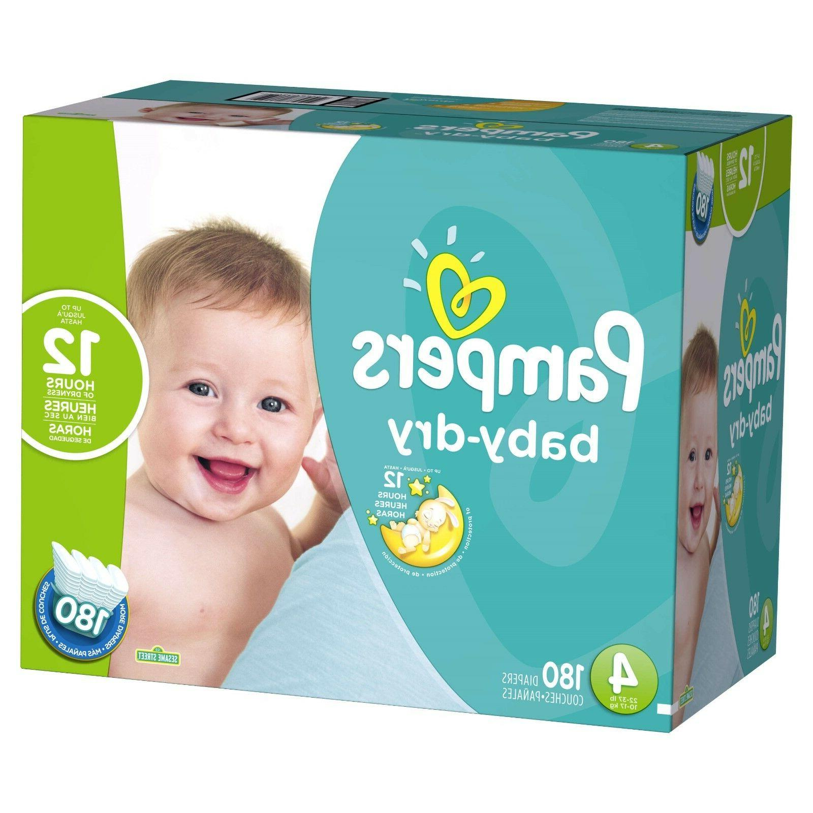 Pampers Dry Diapers Size 2, 4, 5, 6 - Free Shipping! Tax Free!
