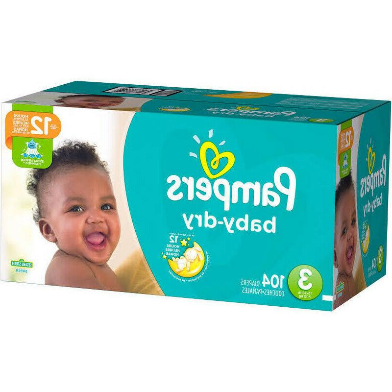 baby dry diapers size 3 104 pack