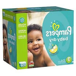 baby dry diapers size 3 4 pack