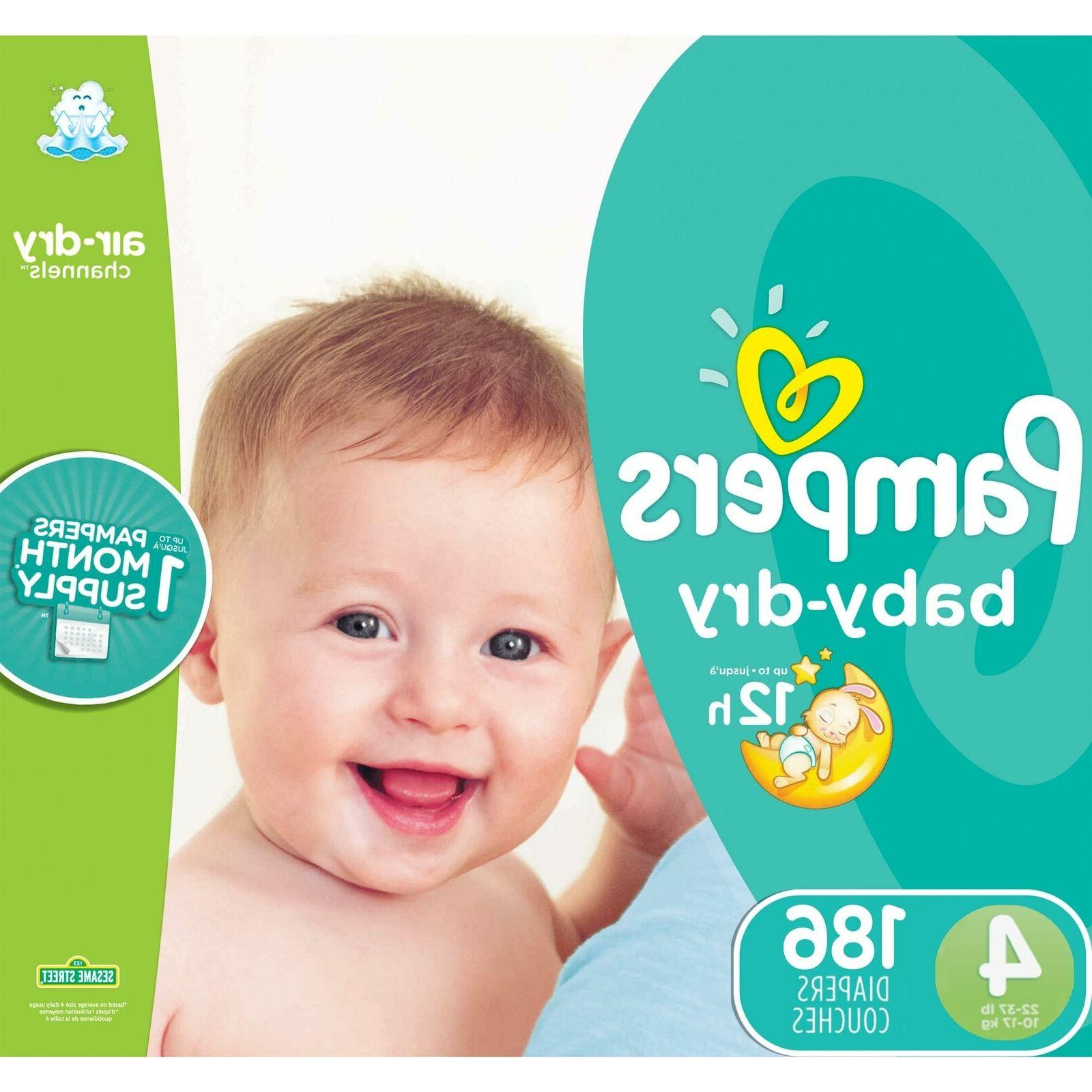 baby dry diapers size 4 186 count