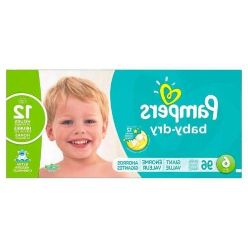 baby dry disposable diapers size 6 96