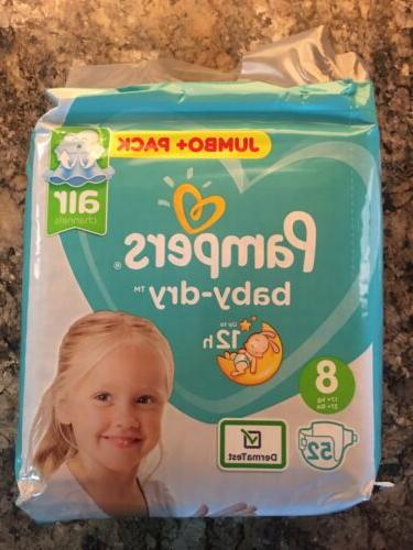 baby dry size 8 diapers sample pack