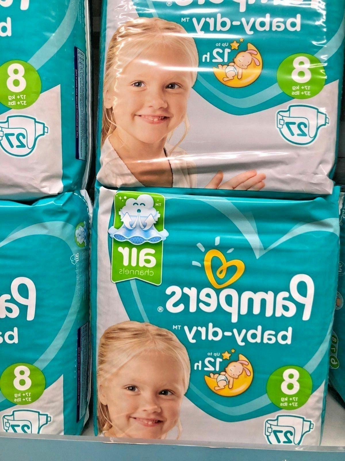 Pampers Baby Dry 8 Discrete Shipping European