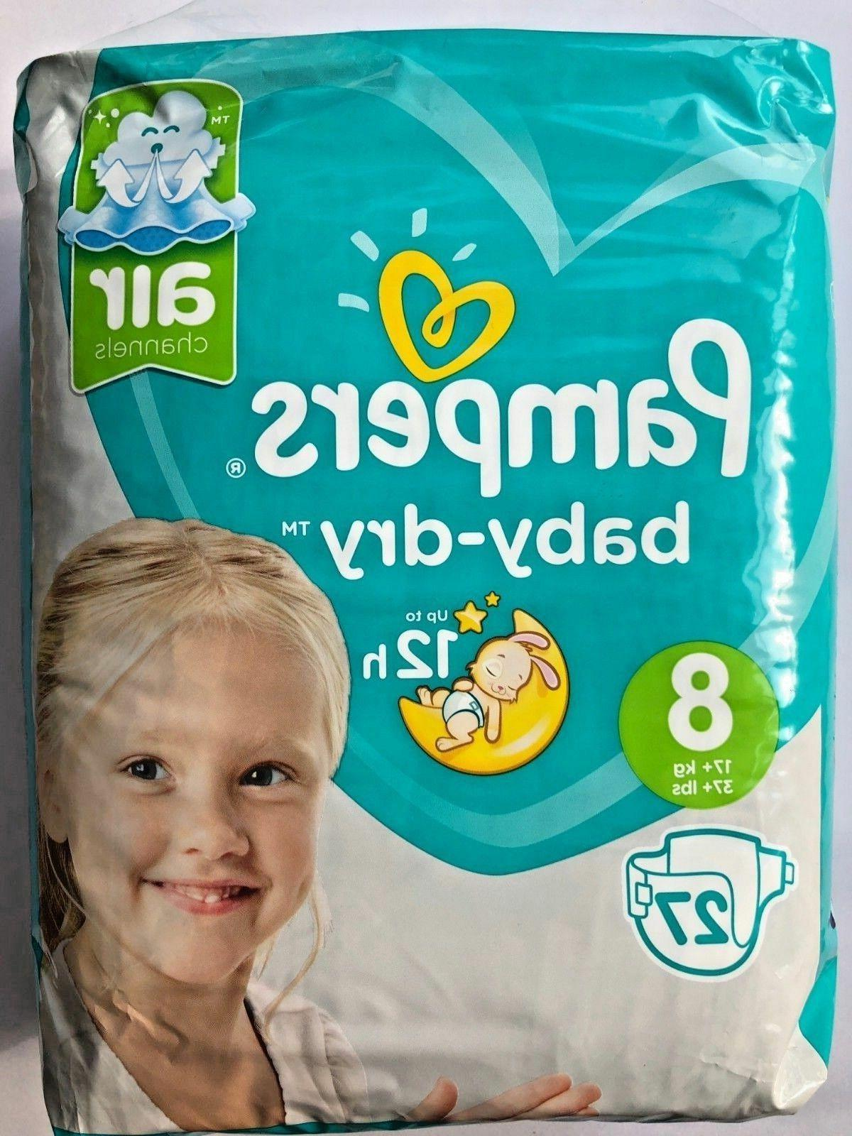 baby dry size 8 sample x2 diapers