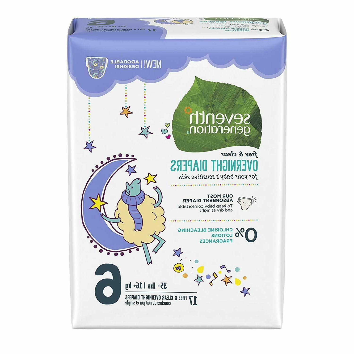 baby free and clear overnight diapers stage