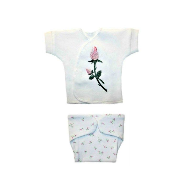 baby girls dainty roses shirt and diaper