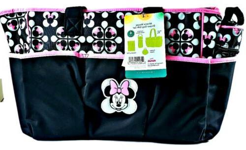 baby minnie mouse 4 pcs diaper bag