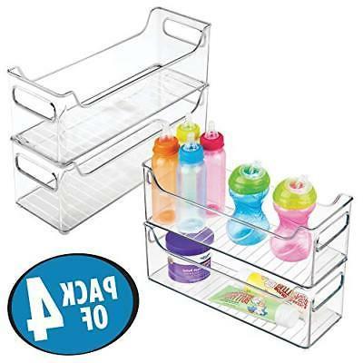 mDesign Nursery Organizer Bins Clothes, Toys 4,