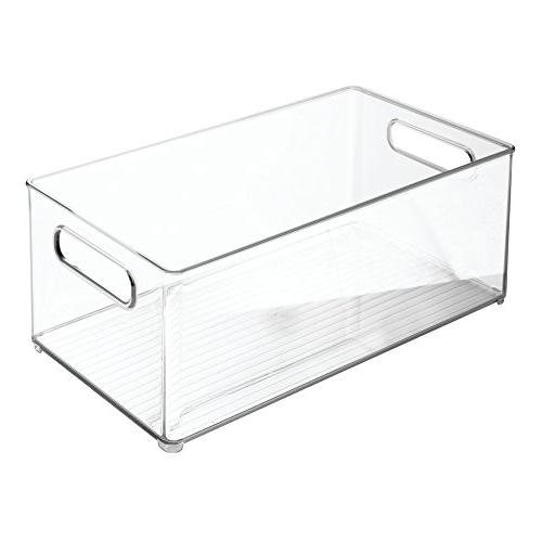 mDesign Container Bin for Supplies - BPA - Holds Bottles, Food 4 -