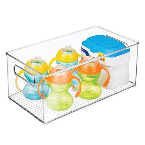 mDesign Stackable Organizer Container for Supplies Kitchen, Pantry, - BPA Holds Food 4 Pack -