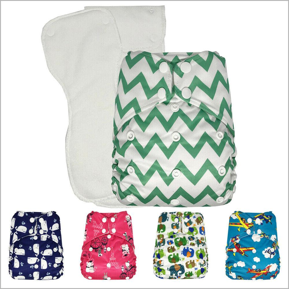 baby pocket cloth diaper with 2 microfiber