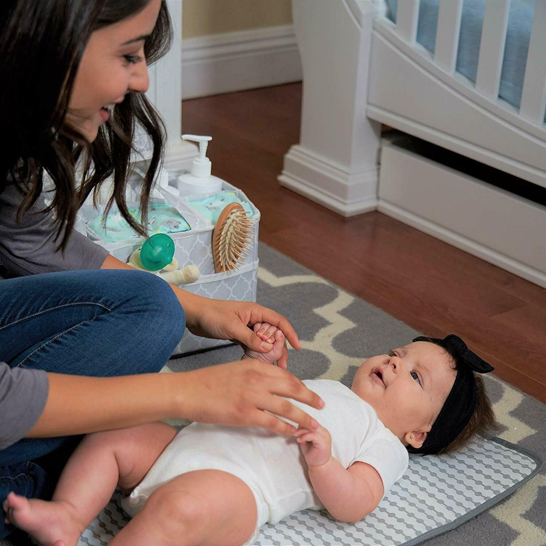 Baby Changing Pad, Travel Mat Grey, Compact