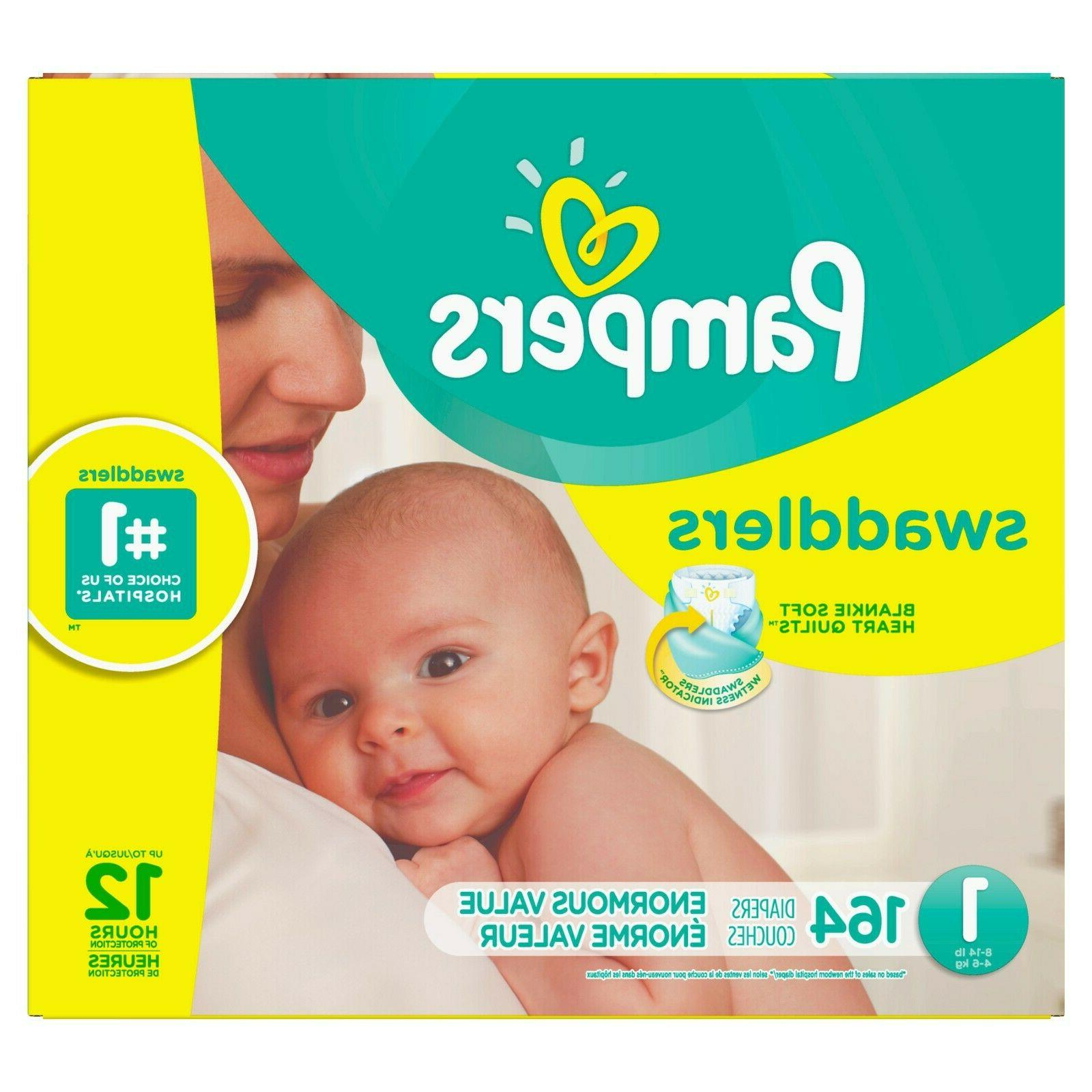 Pampers Swaddlers Newborn Diapers 1,164 New