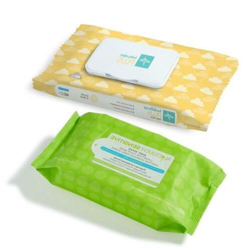 Medline Baby Wipes, Free, 40 Wipes/Package