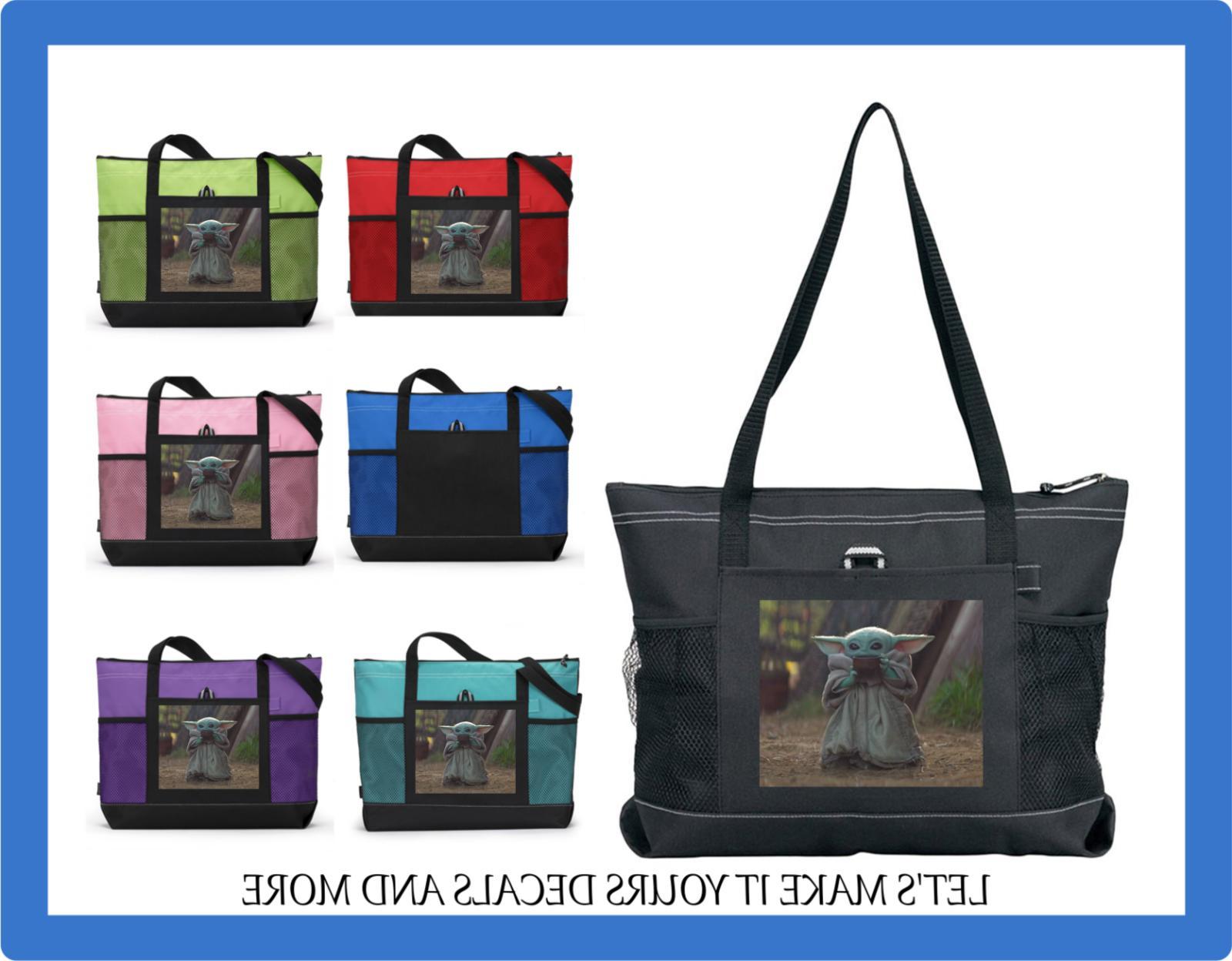 baby yoda cup custom tote purse sports