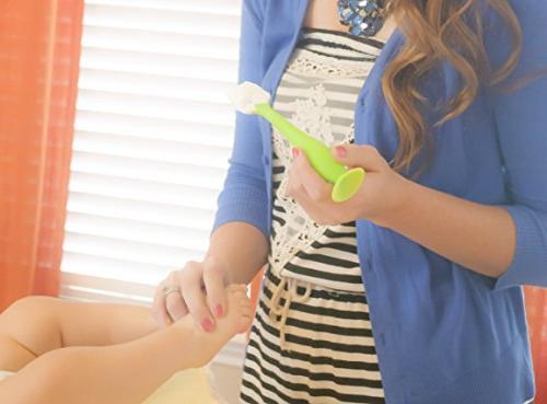 Gray BabyBum Cream Brush Soft Silicone Diaper