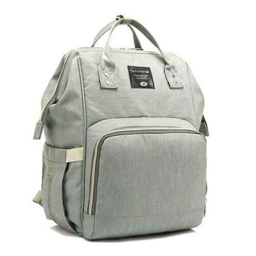 Backpack Multi-Function Grey Mummy Bag