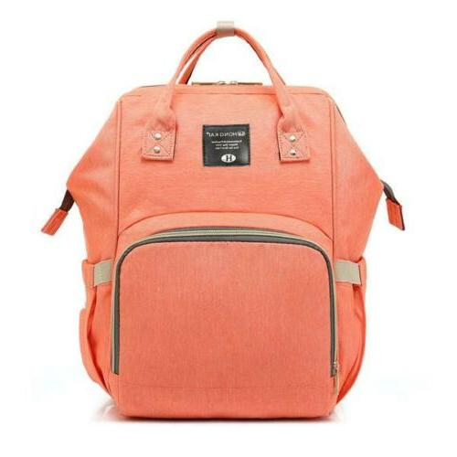 Backpack Multi-Function Bag Diaper Polka Grey Mummy