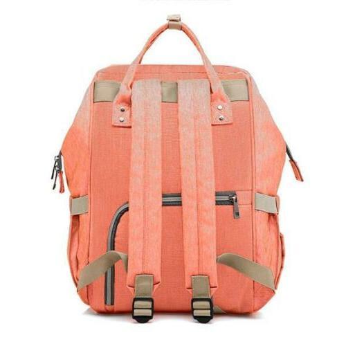Backpack Multi-Function Diaper Polka Dot Grey Changing