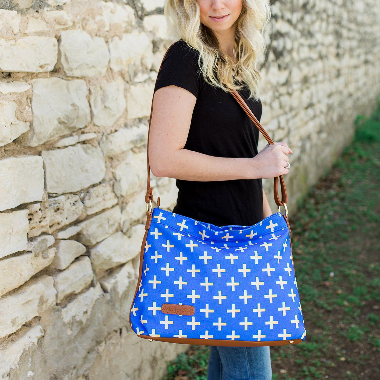 Blue Hobo Crossbody Bags Set of 10 | Wholesale Bulk Overstock