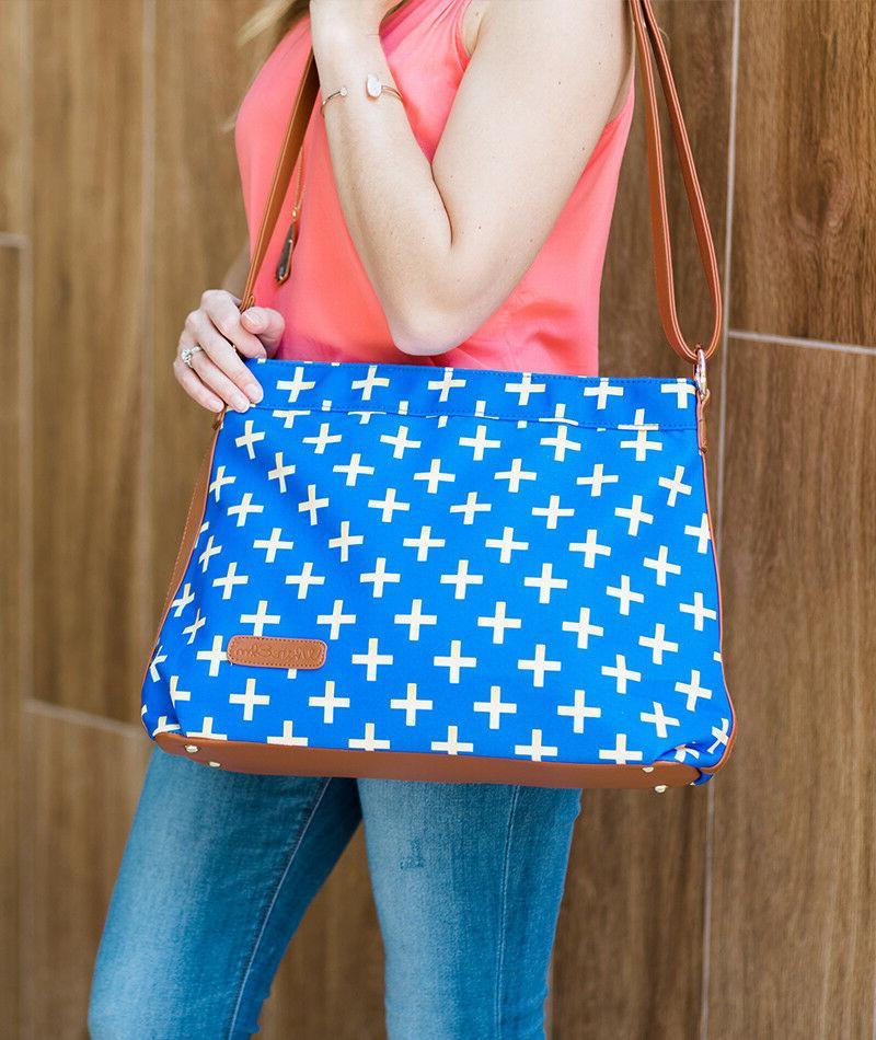 Blue Crossbody Bags Set 10 Wholesale Bulk Overstock