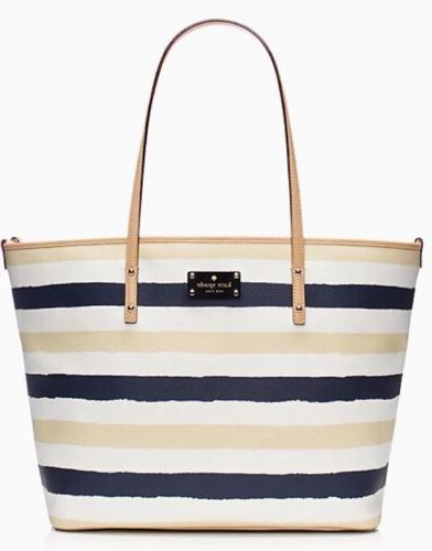 KATE SPADE Bondi Road Harmony Baby Diaper Bag Striped Navy/C