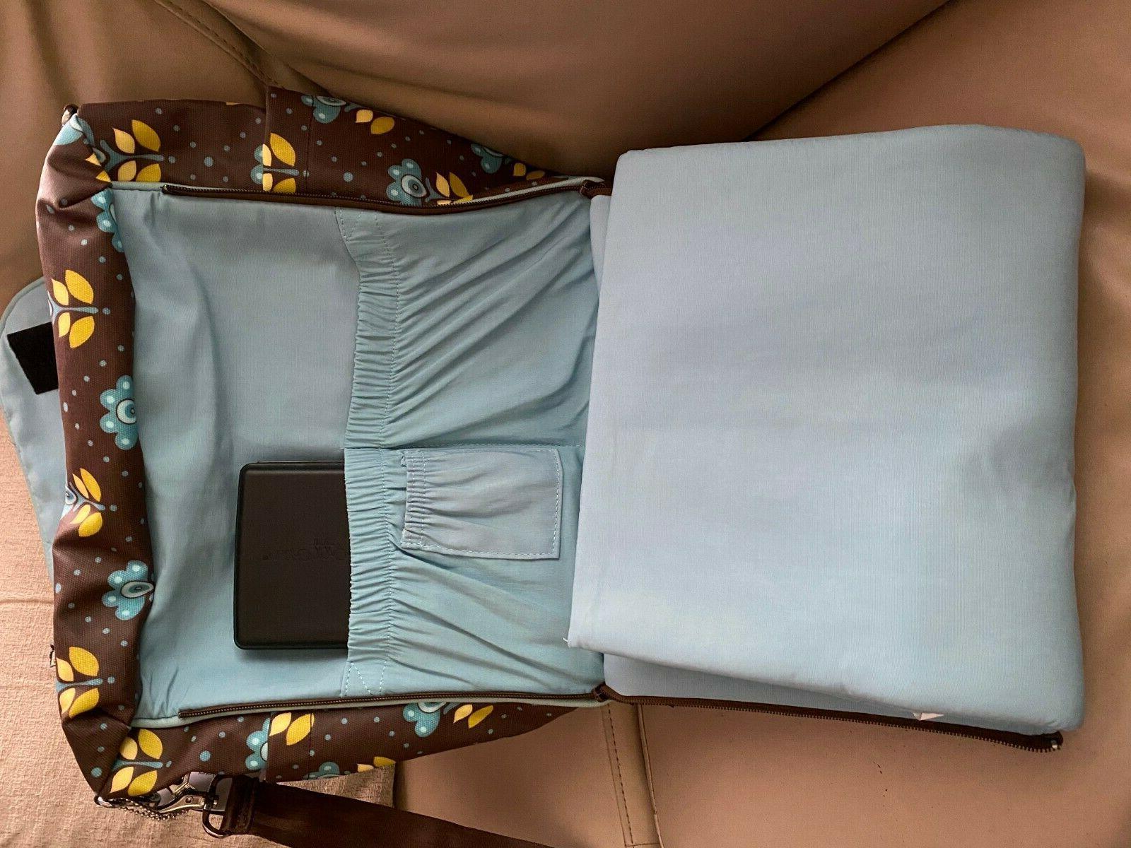 Petunia Boxy backpack diaper bag, glazed