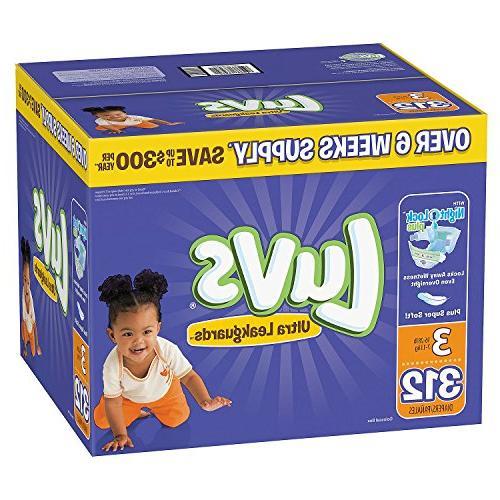 Branded Luvs Ultra Diapers Diaper Size 264 Ct.