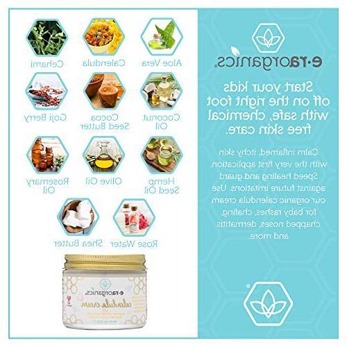 Calendula Diaper Cream Baby Soothing Moisturizing Cream Baby Baby Rashes With Aloe Vera, Seed Oil, Rosemary, Zinc Oxide &