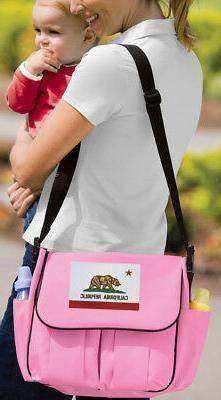 California Flag Diaper Bag  BEST Shower Gifts for Daddy or M