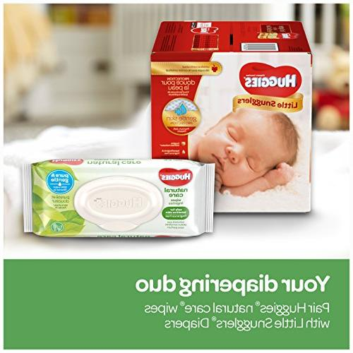 HUGGIES Natural Baby Wipes, Refillable Travel, 32 Total