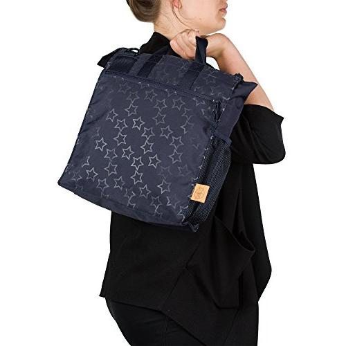 Baby Diaper Bag Reflective Star, Designed Navy Blue