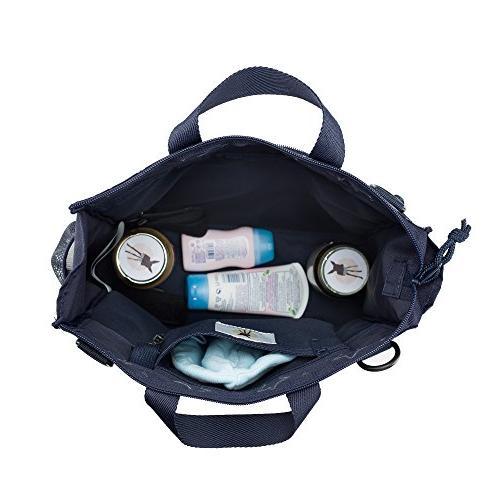 Lassig Womens Baby Diaper Bag Star, Moms, Navy
