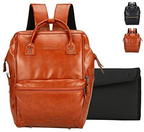 classic leather diaper bag backpack