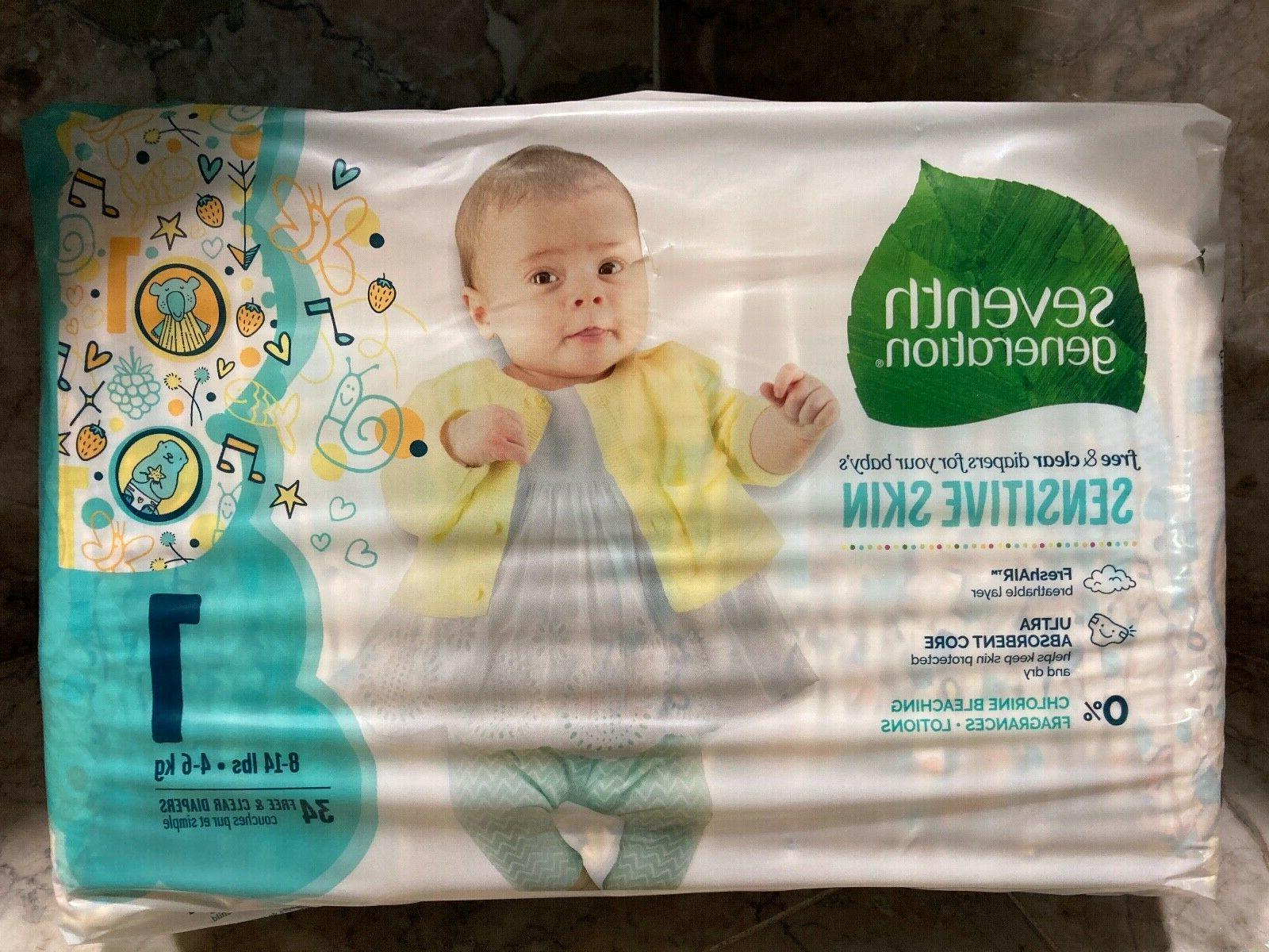 Seventh Generation - Free & Clear Diapers Size 2, 40 ct