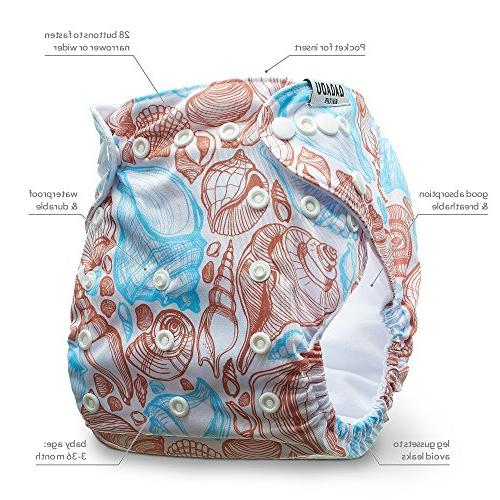 Cloth Diapers Piece Reusable Diaper Set - Baby Soft Liners, Waterproof - All in One for Boys & - for Shower