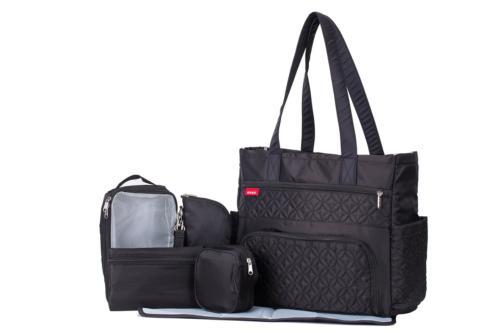 SoHo diaper bag Williamsburg 6 pieces set nappy tote bag for