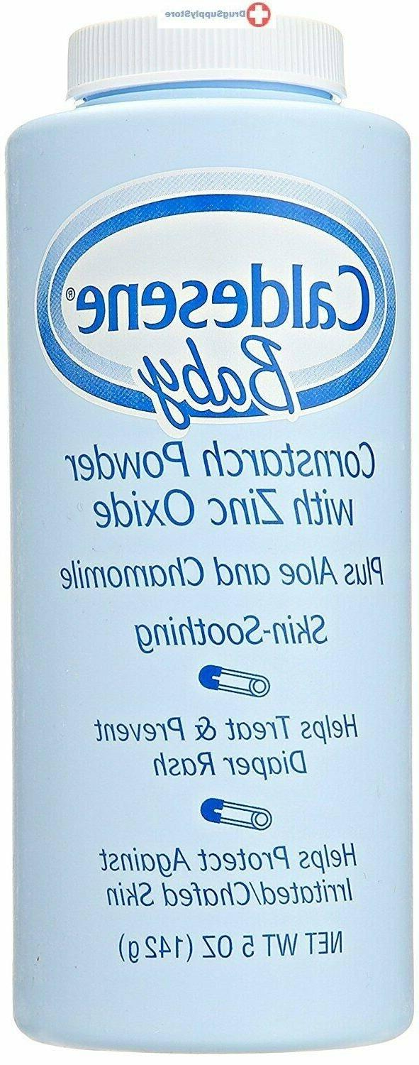Caldesene Baby Powder with Corn Starch & Zinc Oxide | 5 oz.