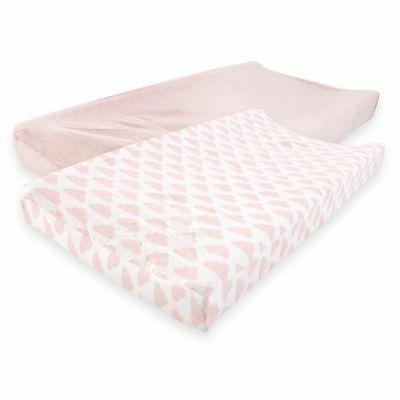 cotton changing pad cover 2 pack heather