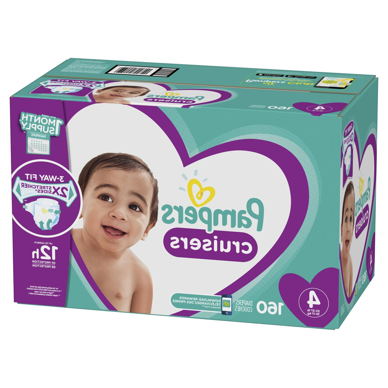 Pampers Cruisers Size 4 Your Baby 22 - lbs with 160 Count