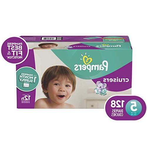 Pampers Cruisers Diapers, Size 128 Count, ONE
