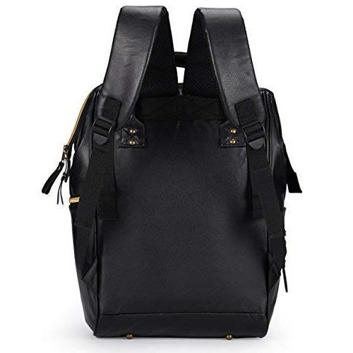 Designer Black Baby Laptop Backpack, with Straps, Pad & Pockets Bags & Dad