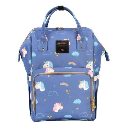 Designer Unicorn Multifunctional Diaper Bag. WATERPROOF BACKPACK
