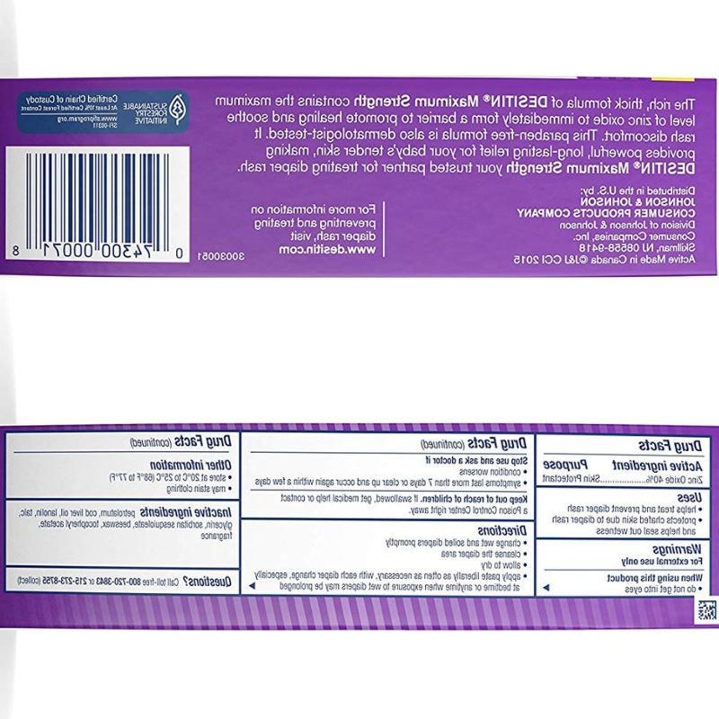 DESITIN Zinc Oxide Diaper Rash Paste, 4 oz