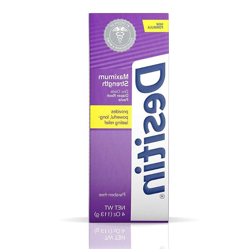 DESITIN Zinc Oxide Diaper Rash Maximum Strength, 4